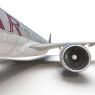 Jet Airliner Airbus A330-300 Qatar Rigged. Preview 45