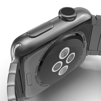 Apple Watch 38mm Link Bracelet Dark Space 2. Render 29
