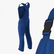 Blue Workwear Overalls. Preview 6