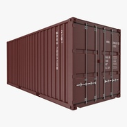 20 ft ISO Container Brown