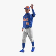 Baseball Player Rigged Mets 2