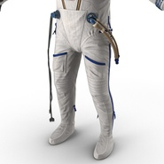 Russian Astronaut Wearing Space Suit Sokol KV2 Rigged for Maya. Preview 42