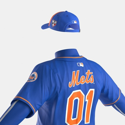 Baseball Player Outfit Mets 2. Render 24