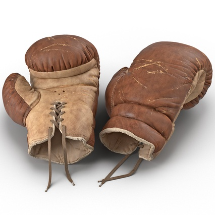 Old Leather Boxing Glove(1). Render 1