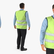 Construction Architect in Yellow Safety Jacket Standing Pose. Preview 6