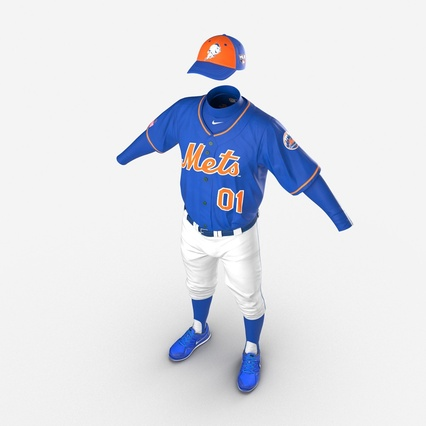 Baseball Player Outfit Mets 2. Render 14