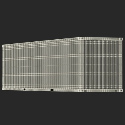 40 ft High Cube Container White. Render 40