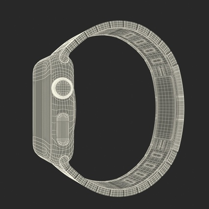Apple Watch 38mm Link Bracelet Dark Space 2. Render 39
