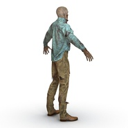 Zombie Rigged for Cinema 4D. Preview 18