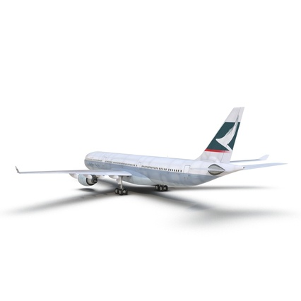 Jet Airliner Airbus A330-300 Cathay Pacific Rigged. Render 12