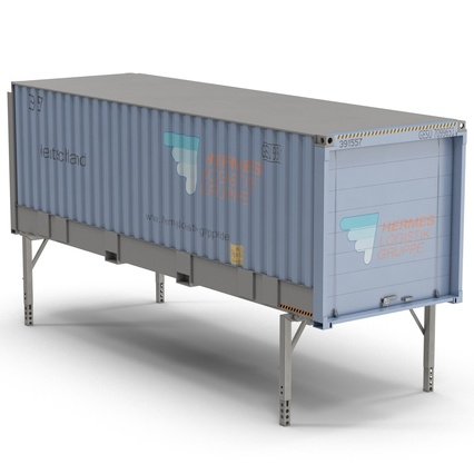 Swap Body Container ISO Blue. Render 6
