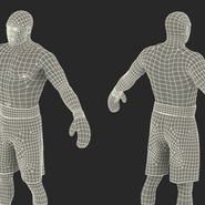 African American Boxer Rigged for Cinema 4D. Preview 32