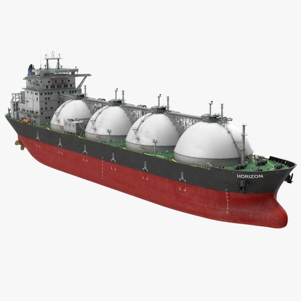 Gas Carrier Ship. Render 1