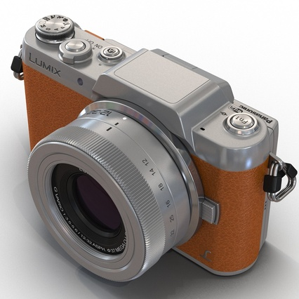 Panasonic DMC GF7 Brown. Render 32