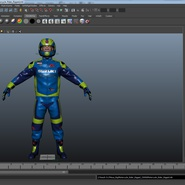 Motorcycle Rider Rigged for Maya. Preview 46