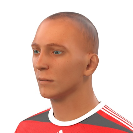 Soccer Player Rigged for Maya. Render 28