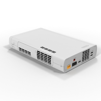 Nintendo Wii U Set White. Render 4
