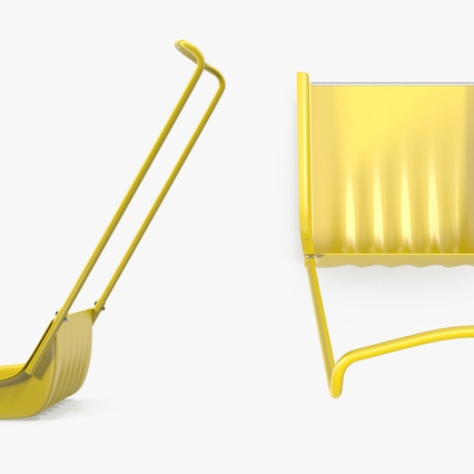 Snow Scoop Shovel. Render 6