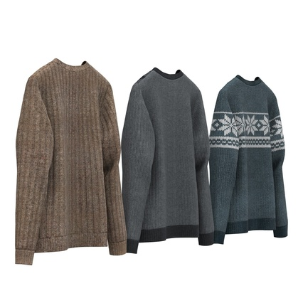 Sweaters Collection. Render 7