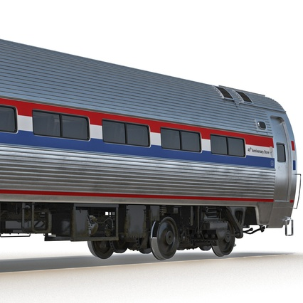 Railroad Amtrak Passenger Car 2. Render 21