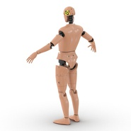 Male Crash Test Dummy Rigged for Cinema 4D. Preview 12