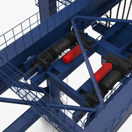Container Crane Blue. Render 28