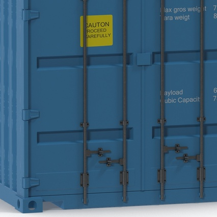 40 ft High Cube Container Blue 2. Render 24