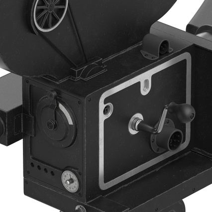 Vintage Video Camera and Tripod. Render 27