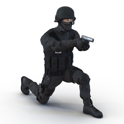 SWAT Man Mediterranean Rigged for Maya. Render 4