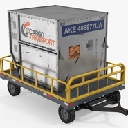 Airport Luggage Trolley Baggage Trailer with Container. Preview 2