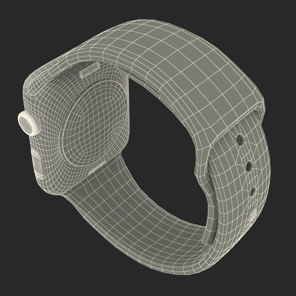 Apple Watch Sport Band White Fluoroelastomer 2. Render 41