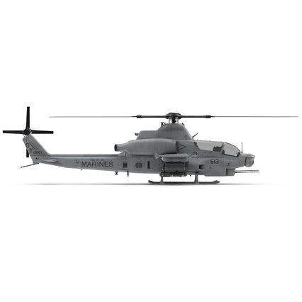 Attack Helicopter Bell AH 1Z Viper Rigged. Render 28
