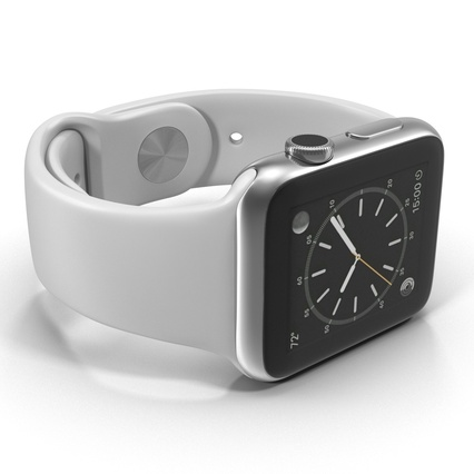 Apple Watch Sport Band White Fluoroelastomer 2. Render 23
