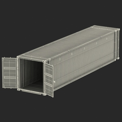 45 ft High Cube Container Blue. Render 35
