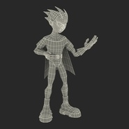 Robin Cartoon Character Rigged for Maya. Preview 37