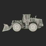 Generic Front End Loader Rigged. Preview 4