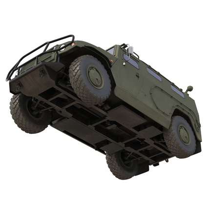 Russian Mobility Vehicle GAZ Tigr M Rigged. Render 60
