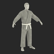 Karate Fighter Rigged for Cinema 4D. Preview 52