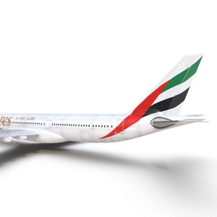 Jet Airliner Airbus A330-300 Emirates Rigged. Render 41