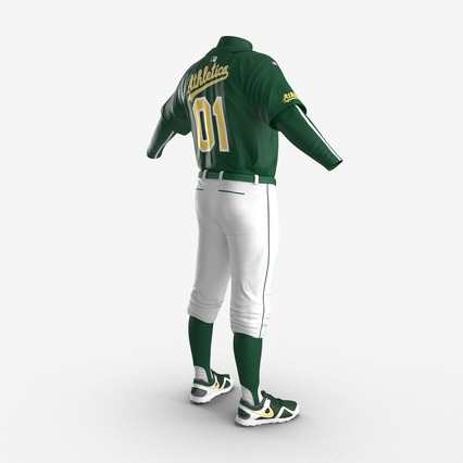 Baseball Player Outfit Athletics 3. Render 11