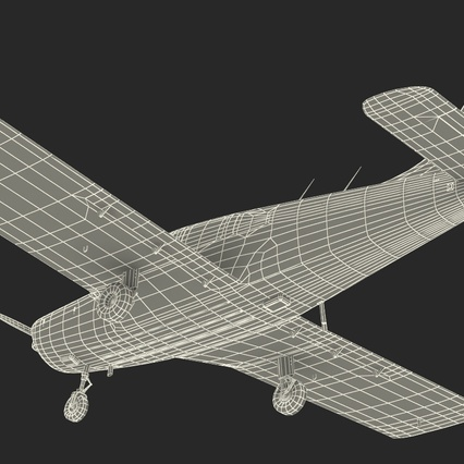 Piper PA-28-161 Cherokee Rigged. Render 30