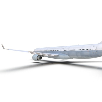 Jet Airliner Airbus A330-300 Cathay Pacific Rigged. Render 30