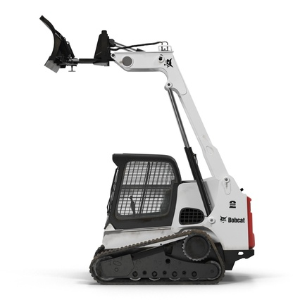 Compact Tracked Loader Bobcat With Blade Rigged. Render 22