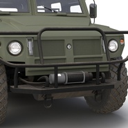 Russian Mobility Vehicle GAZ Tigr M Rigged. Preview 38