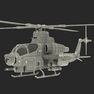 Attack Helicopter Bell AH 1Z Viper Rigged. Preview 91