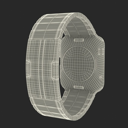 Apple Watch 38mm Link Bracelet Dark Space 2. Render 41