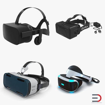 Virtual Reality Goggles Collection. Render 1