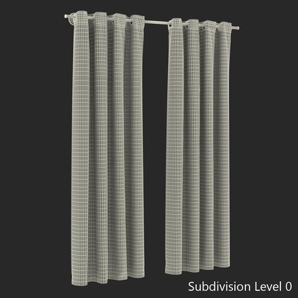 Curtains Collection. Render 58