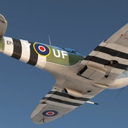 Royal Air Force Fighter Supermarine Spitfire LF Mk IX Rigged. Preview 7