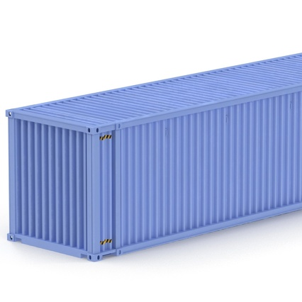 45 ft High Cube Container Blue. Render 20